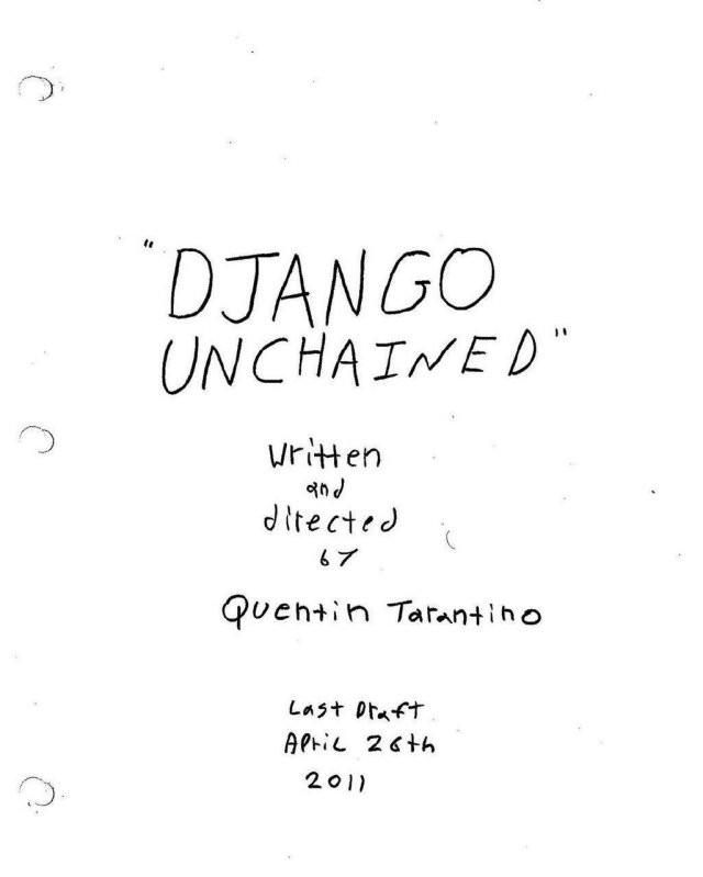 Обложки сценариев к фильмам Квентина Тарантино (9 фото)