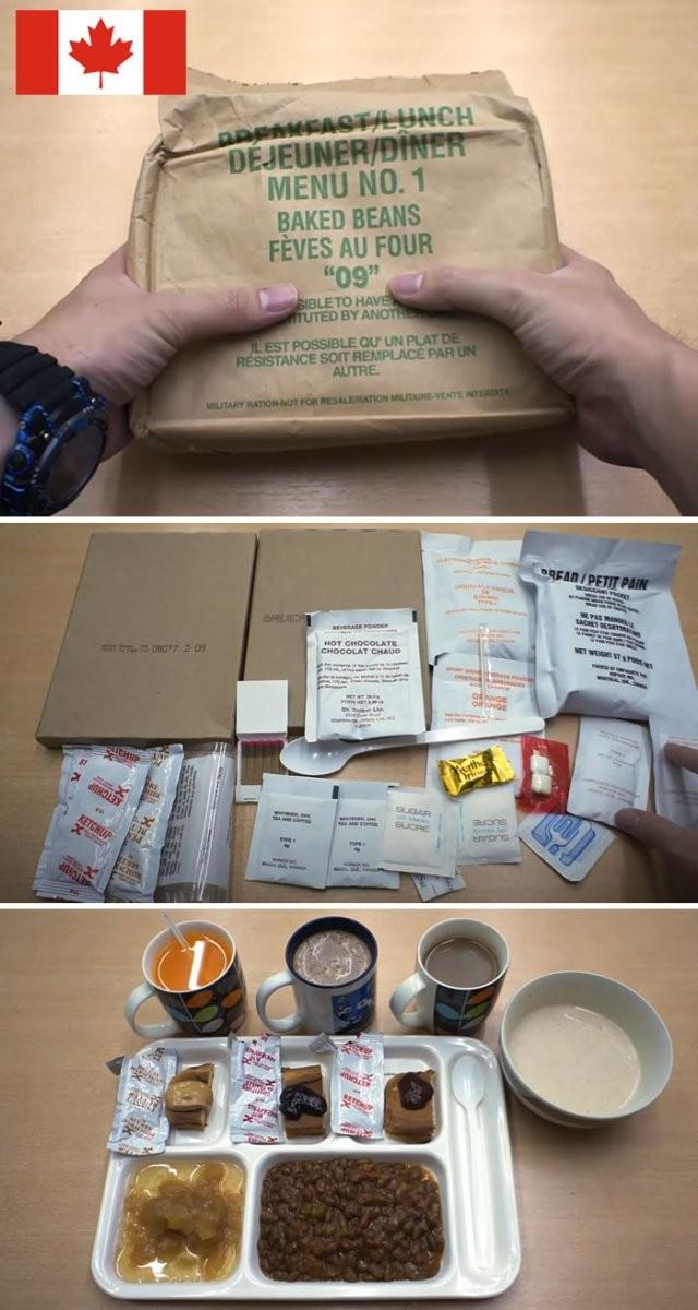 Как выглядят индивидуальные рационы питания разных армий (14 фото)