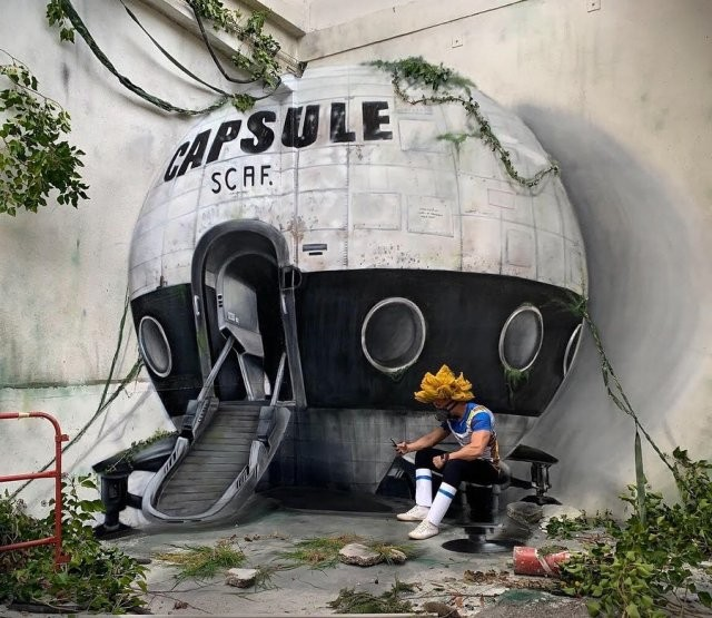 Уличные граффити Скаф, от которых становится не по себе (14 фото)