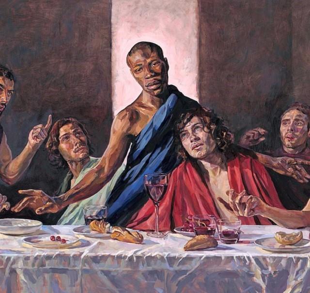"""В британском соборе """"Тайная вечеря"""" с чернокожим Христом (4 фото)"""