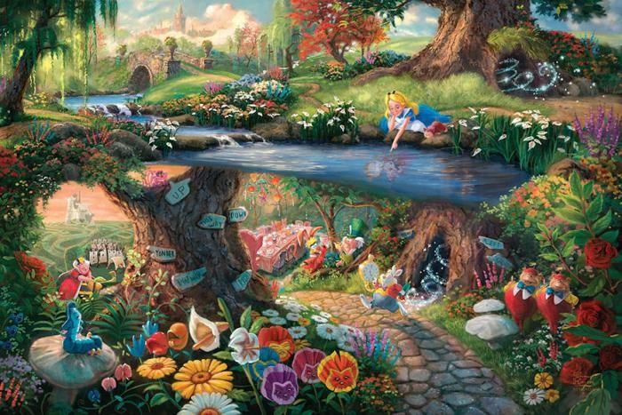 Художник рисует картины из диснеевских мультиков (18 фото)