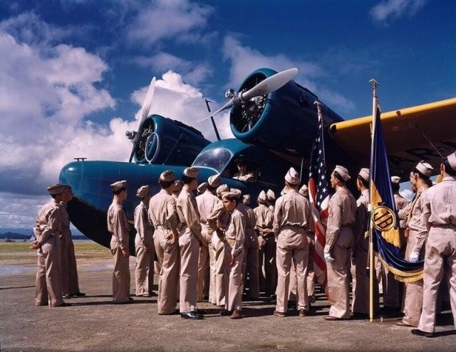 Индустриальные фотографии США 1940-х годов в цвете (15 фото)