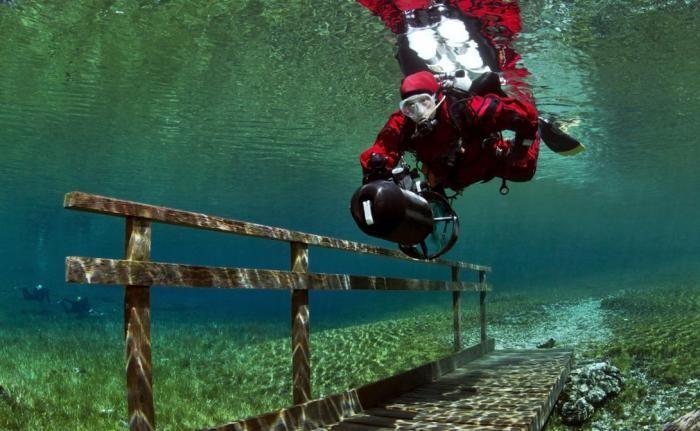 Озеро с лесом под водой (15 фото)