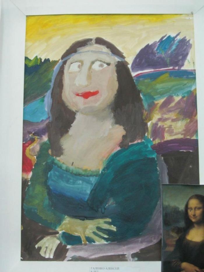 Дети воспроизвели знаменитые шедевры живописи (15 фото)