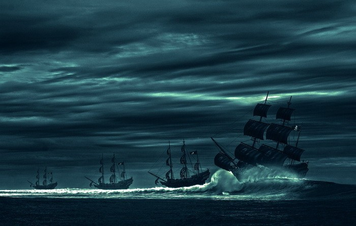 Что изображали пираты на своих флагах (9 фото)