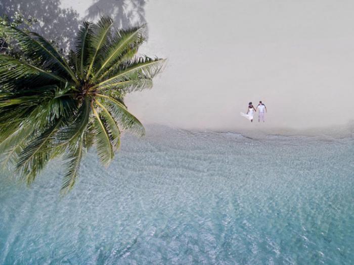 Удивительные свадебные фотографии, сделанные беспилотником (11 фото)