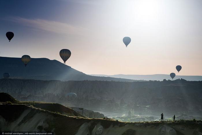 Каппадокия c высоты полета воздушного шара (18 фото)