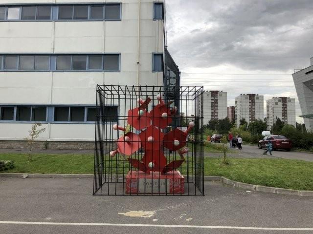 Памятник победы над коронавирусом открыли в Петербурге (6 фото)