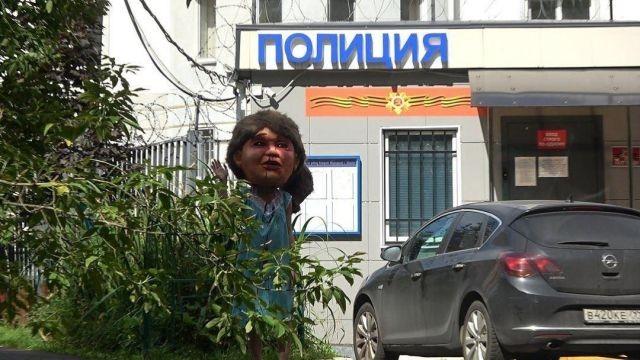 В Москве активистки устроили пугающий перфоманс (5 фото)
