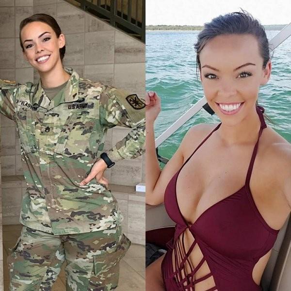 Красивые девушки в форме и без (30 фото)
