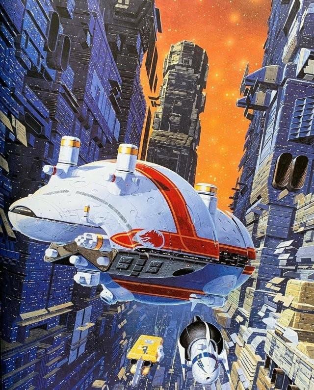 Освоение космоса и футуристические города - каким фантасты видели будущее (14 фото)