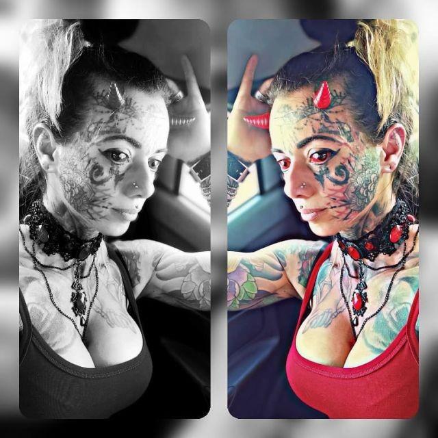 """Кэрол Праддо - 35-летняя бразильянка, которая превратила себя в """"женщину-демона"""" (13 фото)"""