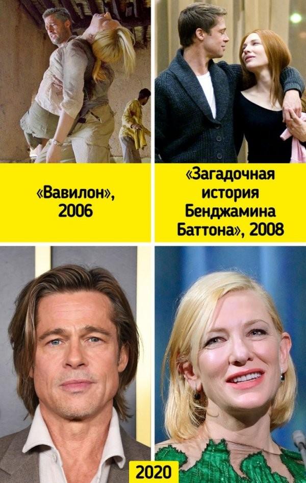 Как изменились известные кинопары, которые неоднократно появлялись вместе в разных картинах (20 фото)