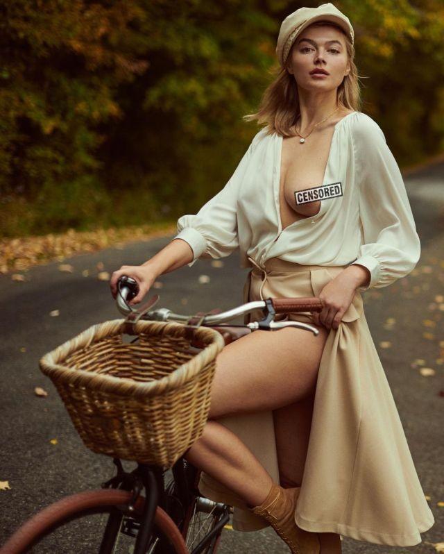 Российская плюс-сайз модель Кристяна Казакова снялась для Playboy в США и пожаловалась на детство в России (15 фото)