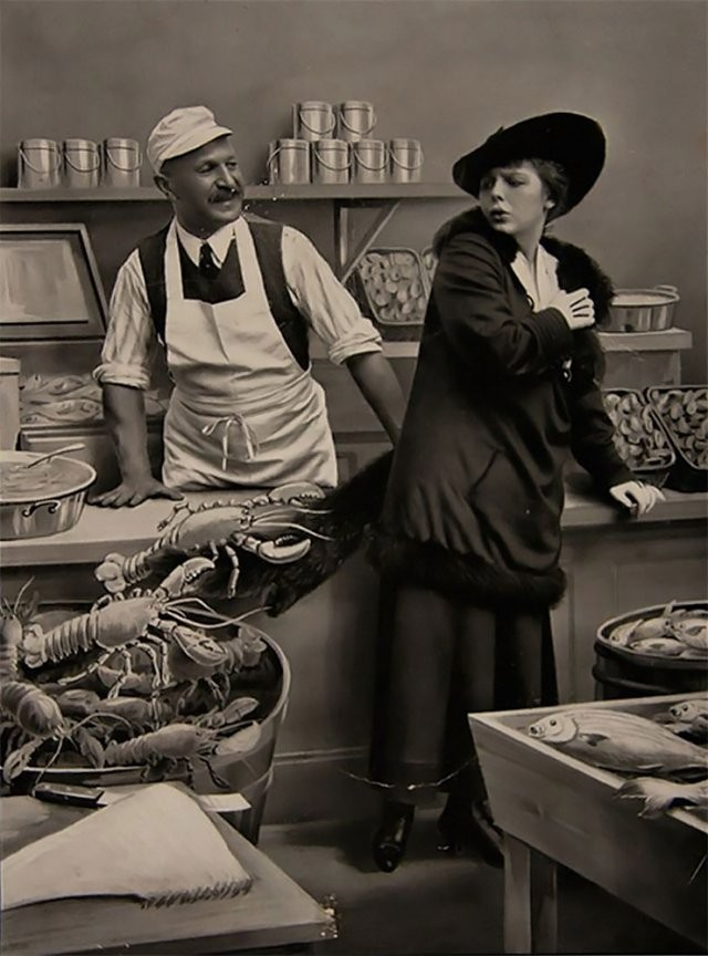 Смешной и странный фотомонтаж из начала XX века (14 фото)