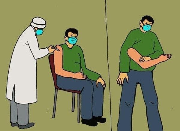 Приколы про массовую вакцинацию от пользователей социальных сетей (14 фото)