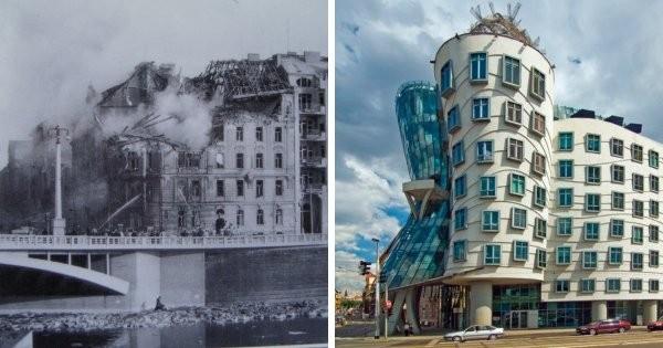До и после: места, на которых были возведены знаменитые на весь мир постройки (9 фото)