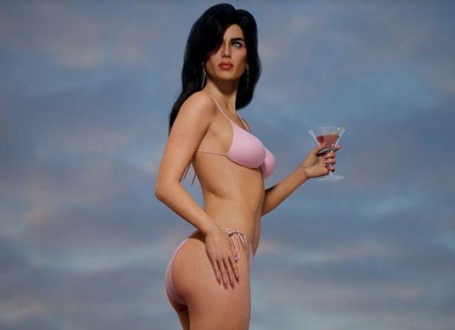 Как выглядела бы брюнетка из GTA: Vice City в реальной жизни (11 фото)