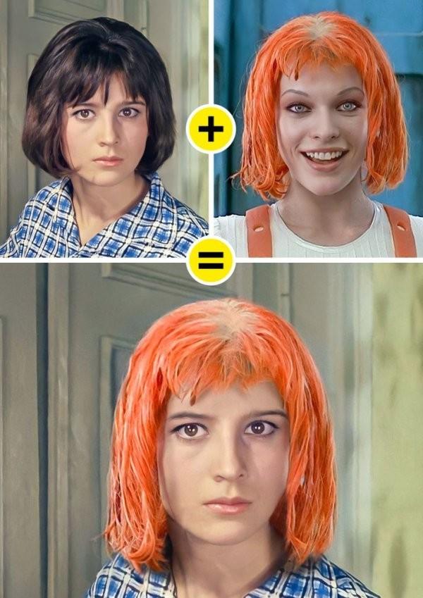 Отечественные киногероини в образах голливудских персонажей (17 фото)