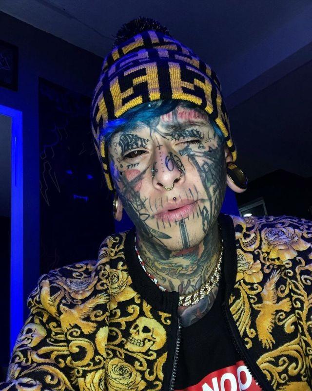 """Маурисио Мандоза - """"Мексиканский дьявол"""", сделавший 160 татуировок (10 фото)"""