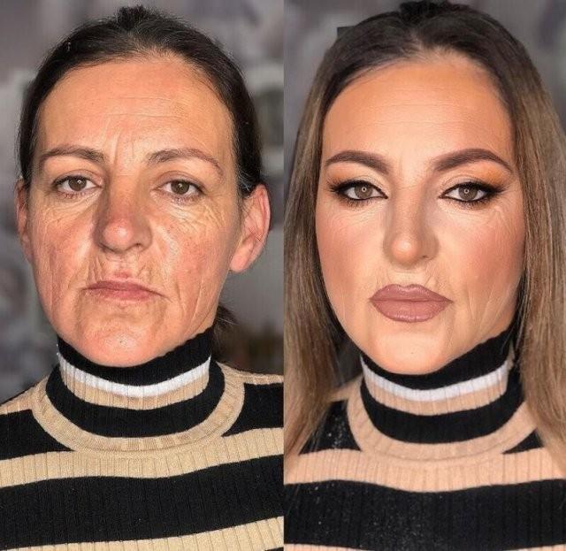 Мужчины, будьте аккуратнее: чудеса макияжа (15 фото)