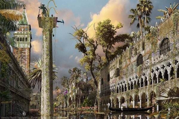 Художник Крис Морин-Эйтнер представил, как выглядели бы города, если бы человечество исчезло (20 фото)