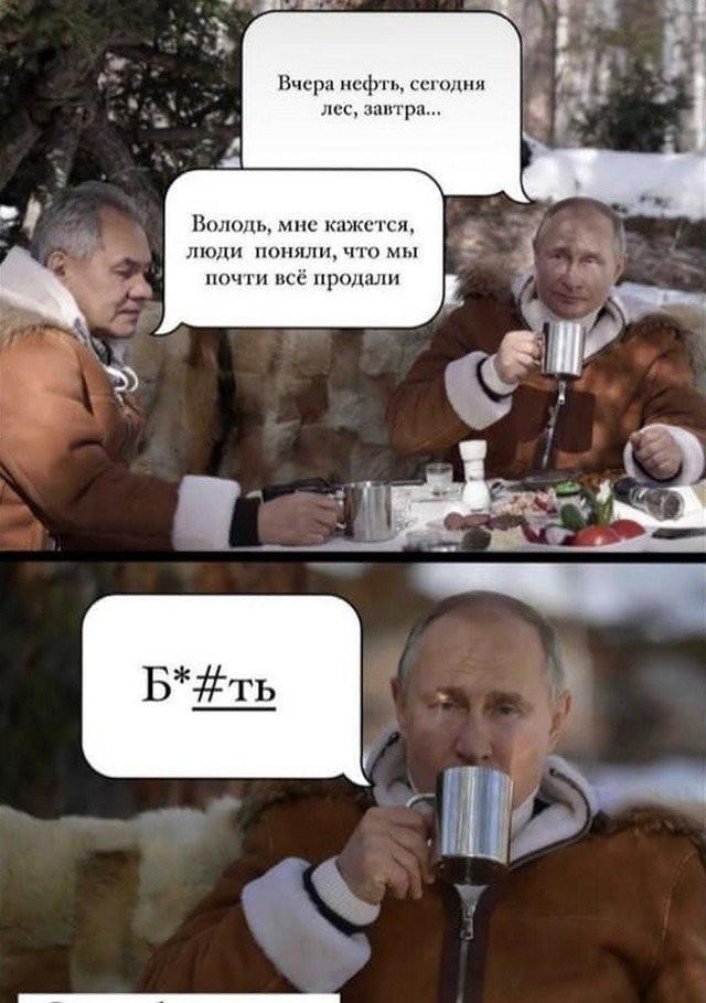 Шутки и мемы о посещении Путиным тайги (19 фото)