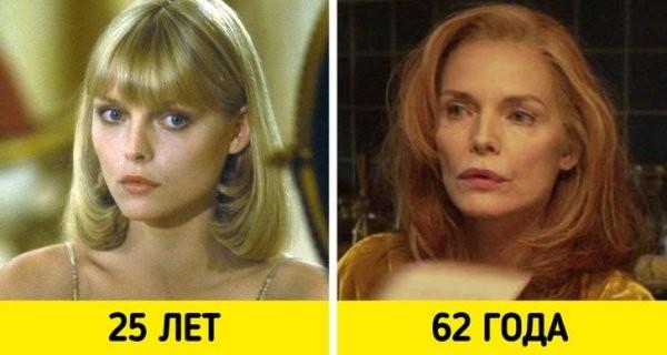 Знаменитые актрисы в своих звездных и последних ролях в кино (18 фото)