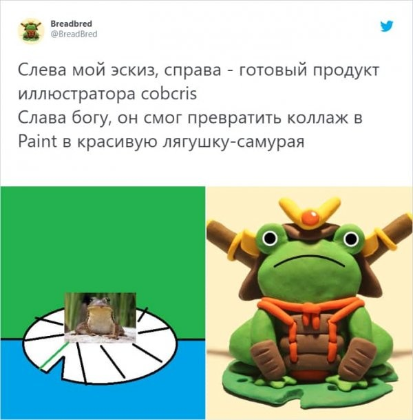 Тред в Твиттере: Клиенты показали художникам свои каракули, и те превратили их в крутые работы (15 фото)