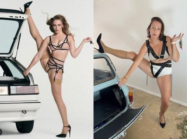 Селеста Барбер - блогер из Австралии, которая показала, как нелепо выглядят позы моделей в обычной жизни (15 фото)