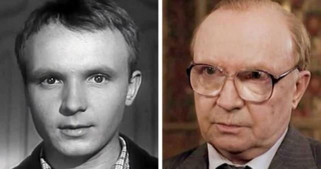 Фотографии любимых советских актеров в их первой и последней роли в кино (16 фото)