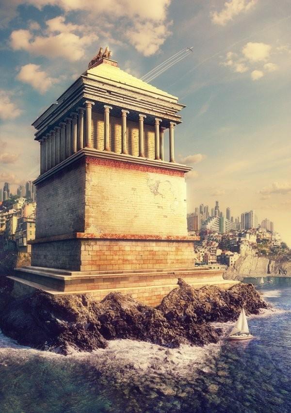 Как выглядели бы древние строения прошлого, сохранись они до XXI века в первозданном виде (10 фото)