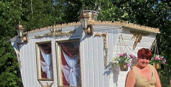 """""""Королевский туалет"""" своими руками на дачном участке  (30 фото)"""