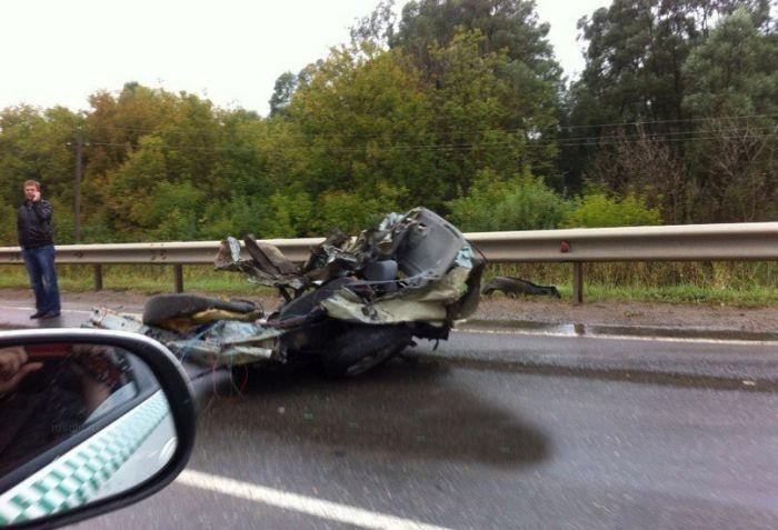 Ужасная авария с грузовиком на трассе в Татарстане (5 фото + видео)