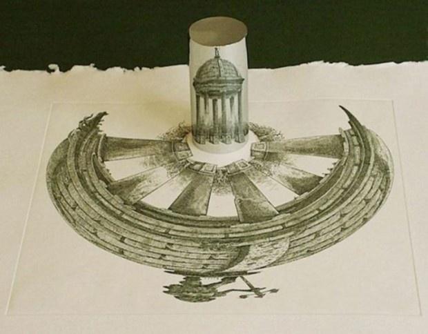 Рисунки, которые можно увидеть только в цилиндре (23 фото)