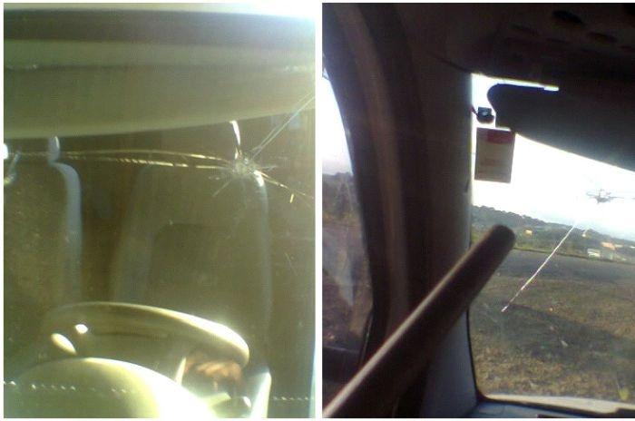 Самый везучий водитель (6 фото)