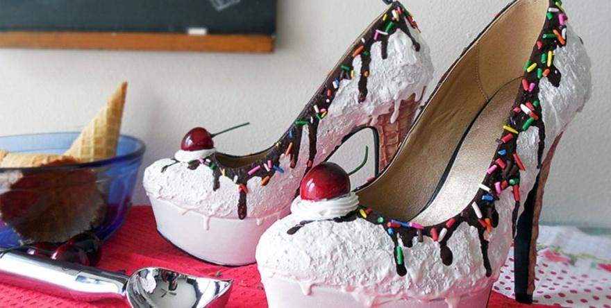 """Эксклюзивная """"вкусная"""" обувь для девушек (10 фото)"""