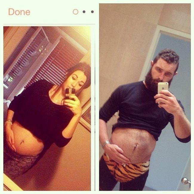 Мужская пародия на женские снимки (25 фото)