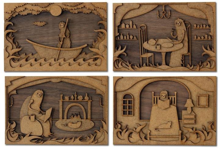 Забавные деревянные картины Мартина Томски (13 фото)