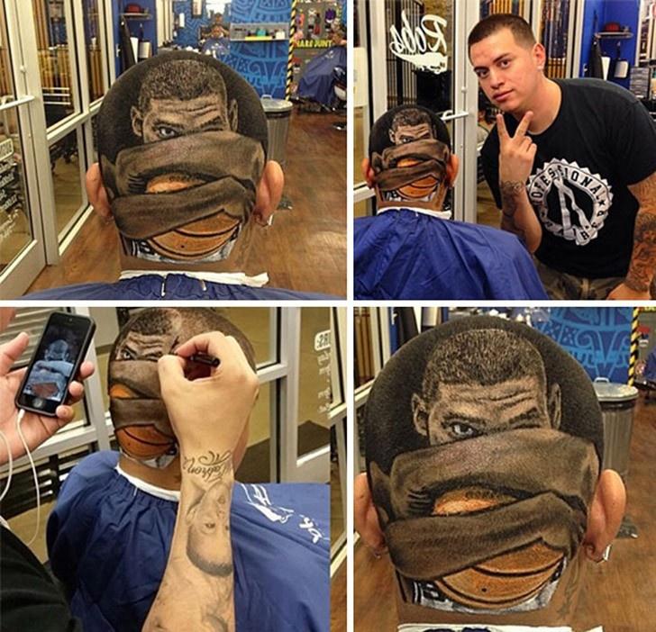Гениальный парикмахер (10 фото)