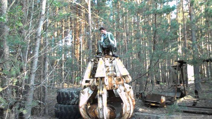 Ковш, который использовался при ликвидации аварии на ЧАЭС (5 фото + видео)
