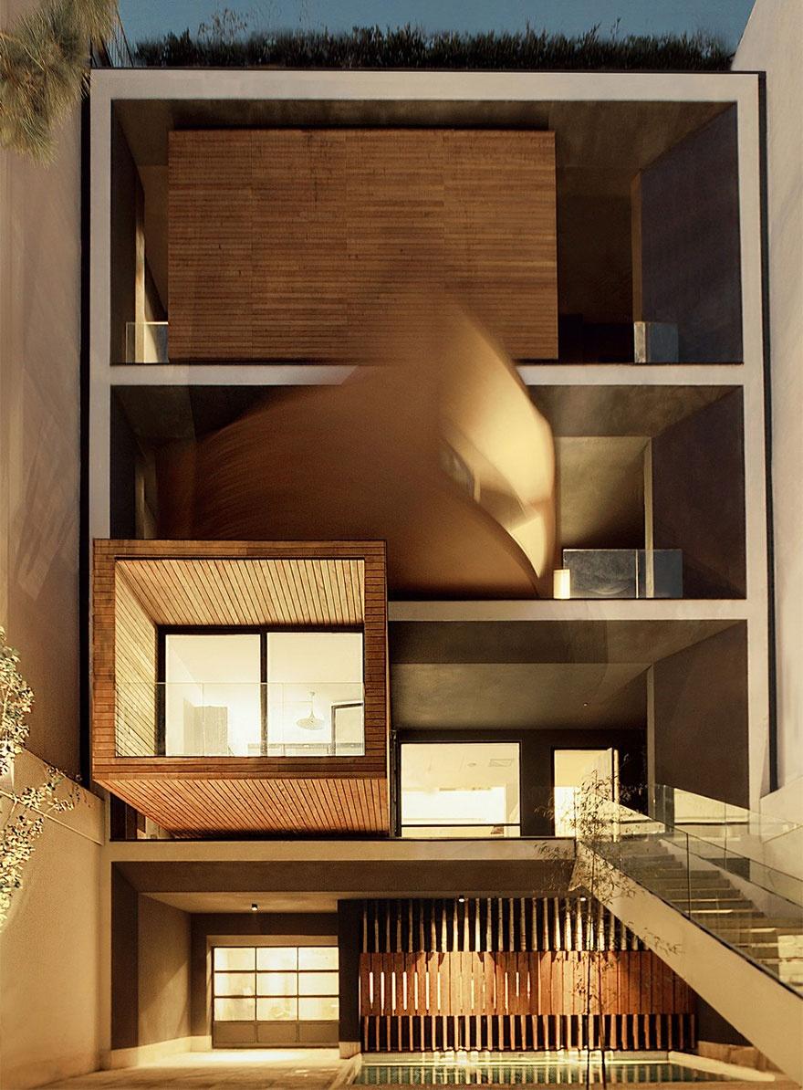 В Тегеране построили удивительный дом с вращающимися комнатами (4 фото)