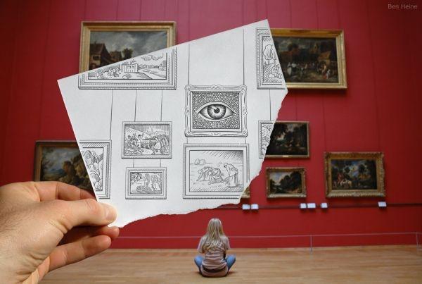 Карандашный рисунок vs фотография (13 фото)