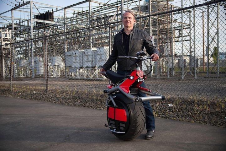 1-колесный мотоцикл (8 фото)