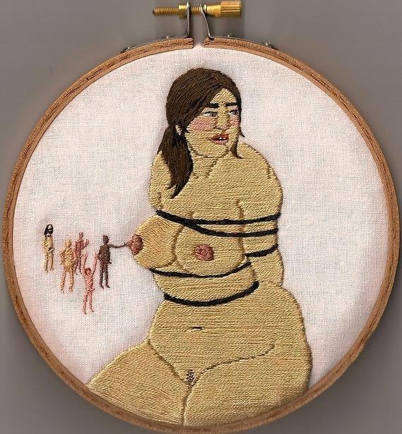 Непристойные вышивки Алаины Варроне (11 фото)