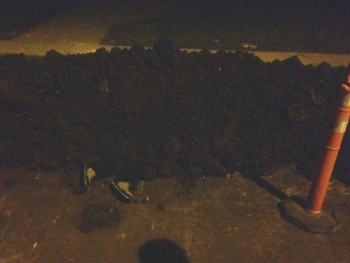 Дамочка пошутила над строителями (3 фото)