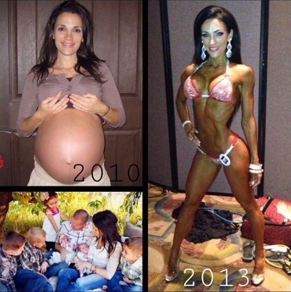 Многодетная мать после рождения шести детей (26 фото)