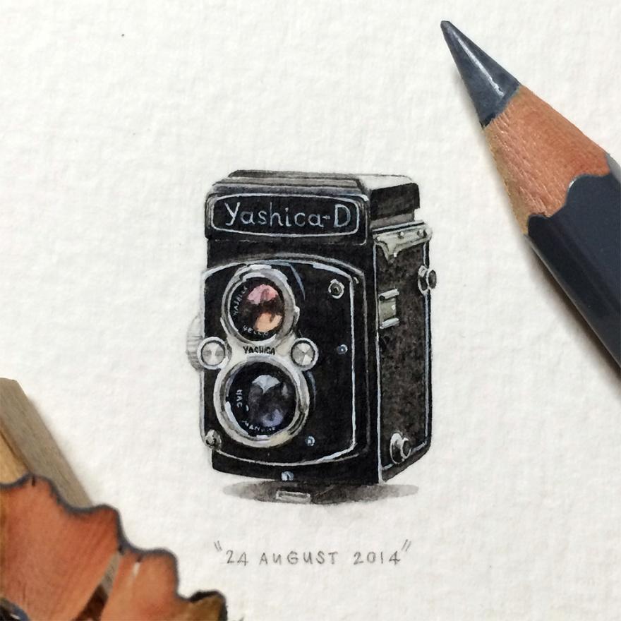 Удивительные миниатюрные рисунки (10 фото)