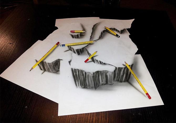 Лучшие карандашные 3D рисунки (33 фото)