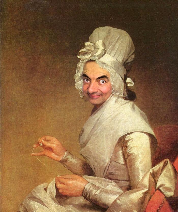 Мистер Бин захватил классические картины! (14 фото)